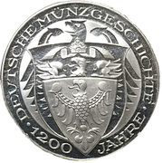 Coin-medal (1200 Years of German Coinage - 5 Mark - Graf Zeppelin 1930) – reverse
