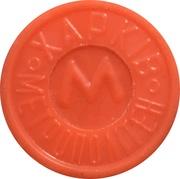 Metro Token - Kharkiv (Coat of arms 1968 -1995; Orange opaque) – obverse