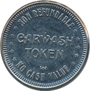 Carwash Token - Route 222 (Wescosville, PA) – reverse