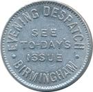 1 Shilling - Evening Despatch (Birmingham) – obverse
