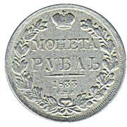 Replica - 1 Ruble - Nikolai I / Aleksandr II – reverse