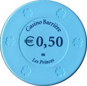 50 Cents - Casino Barriere (Les Princes) – reverse