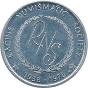 Token - Racine Numismatic Society (United States Bicentennial) – obverse