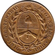Token - Argentina centennial – reverse
