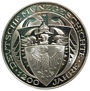 Coin-medal (1200 Years of German Coinage – First silver pfennig ) – reverse