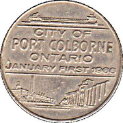 Token - City of Port Colborne (The Gate of Navigation) – reverse