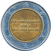 Amusement Token - E-Zone (Sega World) – reverse
