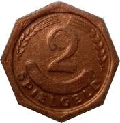2 Pfennig (Spielgeld) – reverse