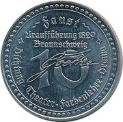Token - Johann Wolfgang von Goethe – reverse