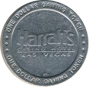 1 Dollar Gaming Token - Harrah's Casino (Las Vegas, NV) – reverse
