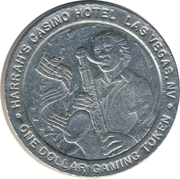 1 Dollar Gaming Token - Harrah's Casino (Las Vegas, NV) – obverse