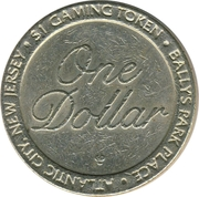 1 Dollar Gaming Token - Bally's Park Place (Atlantic City, New Jersey) – obverse
