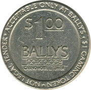 1 Dollar Gaming Token - Bally's Park Place (Atlantic City, New Jersey) – reverse