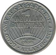 1 Dollar Gaming Token - Ceasars Palace (Atlantic City) – reverse