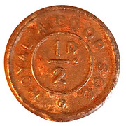 ½ Penny - Royal Arsenal Cooperative Soc Limited – obverse