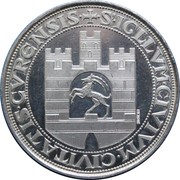 Medallion - 500 Years City and Guild Freedom – reverse