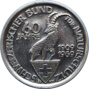 Token - 60 Years Swiss Federation Nature Conservation – obverse