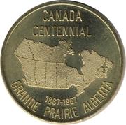 Token - Grande Prairie Alberta (Canada Centennial) – obverse
