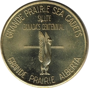 Token - Grande Prairie Alberta (Canada Centennial) – reverse