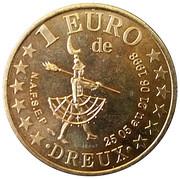 1 Euro - Dreux – reverse