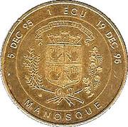 1 ECU - Manosque (Jean Giono) – reverse