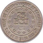 25 ECUs (Bastia) – reverse