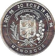 20 ECUs (Manosque) – obverse