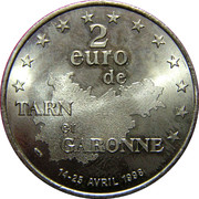 2 Euro (Tarn et Garonne) – reverse