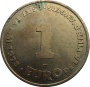 1 Euro (Angers) – reverse