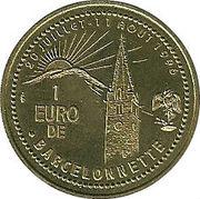 1 Euro (Barcelonnette) – reverse