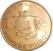 1 Euro (Voiron) – reverse