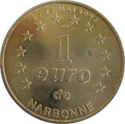 1 Euro (Narbonne) – reverse