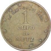 1 Euro (Metz) – reverse