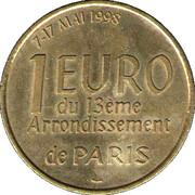 1 Euro - Paris (Mairie 13) – reverse