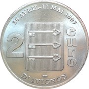 2 Euro (Avignon) – reverse