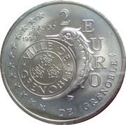 2 Euro (Grenoble) – reverse