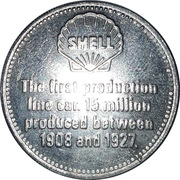 Token - Shell (Ford Model T 1911) – reverse