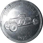 Shell Token - Sunbeam 3 litre 1925 – obverse