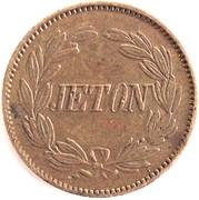 Jeton - Composition Spielmarke (Napoleon III) – reverse