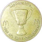 Token - McDonald's AFL Elite Collection (Centenary Grand Final 1996) – reverse