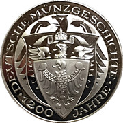 Coin-medal (1200 Years of German Coinage – Thaler Friedrich Wilhelm IV ) – reverse