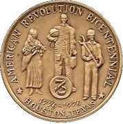 Medal - American Revolution Bicentennial (Houston, Texas) – obverse