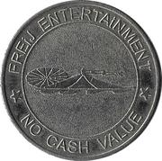Amusement Token - Freij Entertainment (bigger inner circle, silver, without website) – obverse