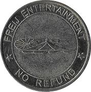 Amusement Token - Freij Entertainment (bigger inner circle, silver, without website) – reverse