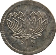 Token (Buddha and Lotus) – reverse
