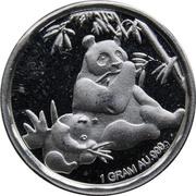 Token -  Eating Pandas (1 Gram Silver Bullion) – obverse