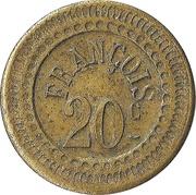 20 Centimes - François – obverse