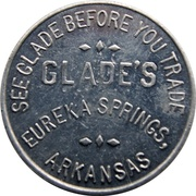 3 Cents - Glade's (Eureka Springs, Arkansas) – obverse