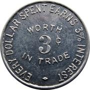 3 Cents - Glade's (Eureka Springs, Arkansas) – reverse
