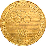 Token - 1980 Winter Olympic, Lake Placid (Figure Skating) – obverse